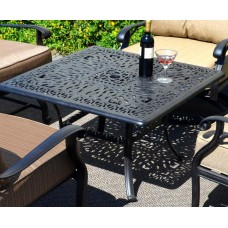 "Patio coffee table outdoor Cast Aluminum furniture 36"" Elisabeth Bronze"
