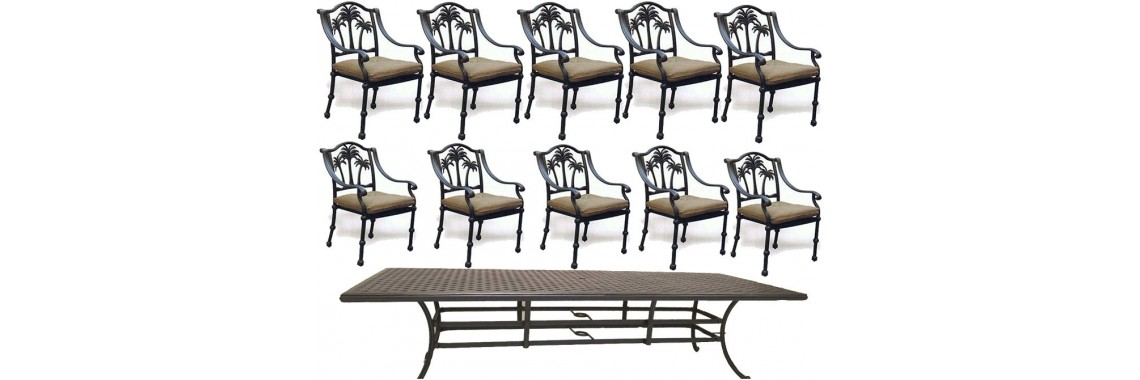 11 piece outdoor dining set
