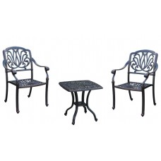 3 Piece Outdoor Bistro Set Elisabeth Patio furniture Garden Cast aluminum Bronze
