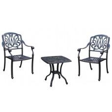 3 Piece Outdoor Bistro Set Elisabeth Patio furniture Garden Cast aluminum Bronze