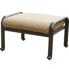 Patio furniture outdoor ottoman Cast Aluminum Elisabeth Desert Bronze