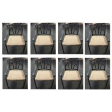 8 Palm Tree Patio dining chairs outdoor cast aluminum furniture Bronze
