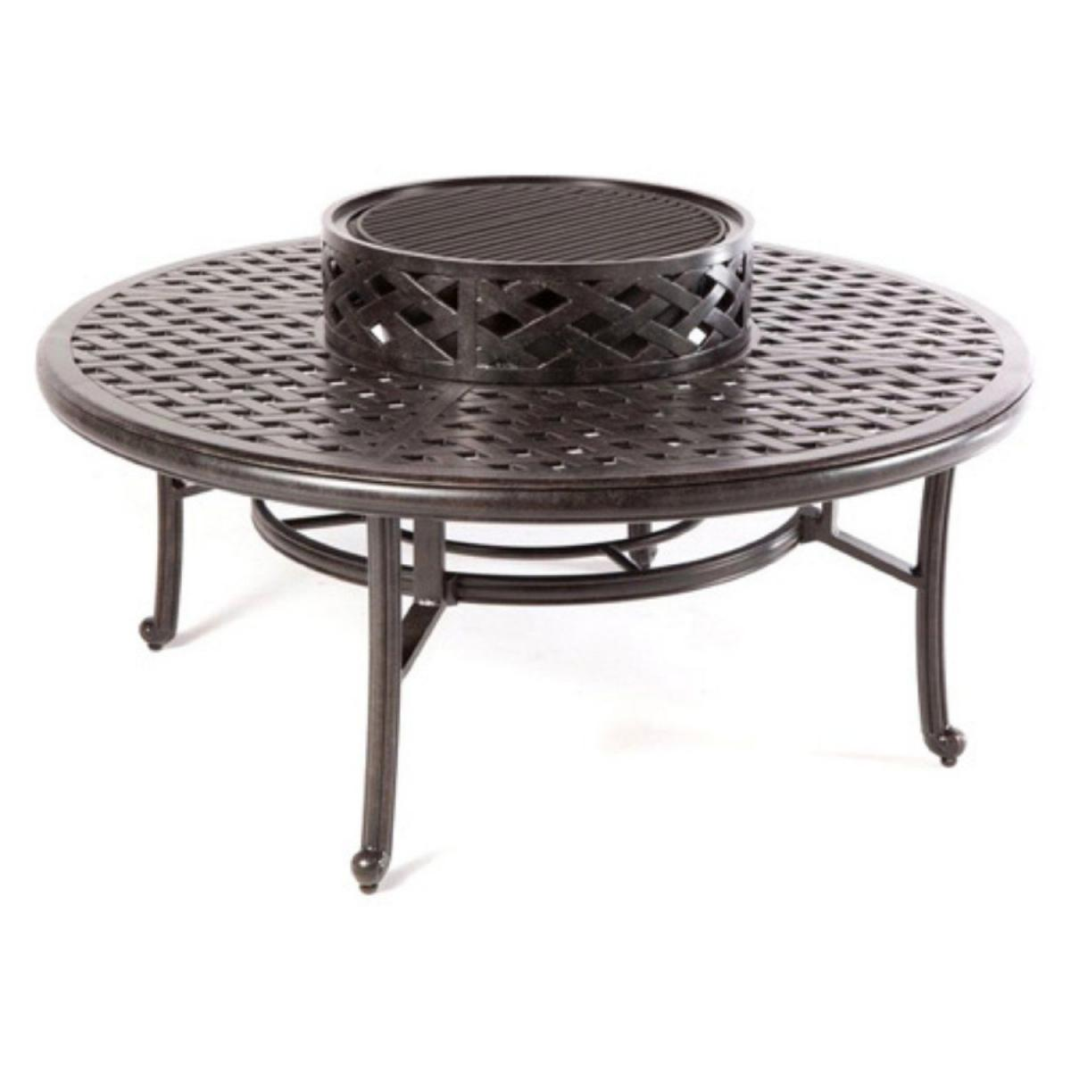 Patio Table Nassua Darlee Outdoor Cast Aluminum 52 Ice Tea Fire