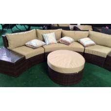 Outdoor Sofa 6pcs Sectional Wicker Brown Las Vegas Patio Furniture and Garden