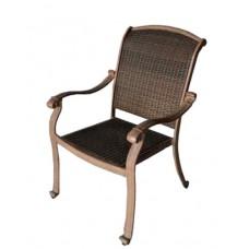 Patio chair Santa Clara outdoor Cast aluminum furniture Wicker mocha - bronze