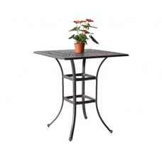 "Patio bar table furniture Elisabeth 36"" Square outdoor Aluminum Bronze"