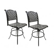 Bar stool's arm-less Set of 2 Outdoor Patio Furniture Cast Aluminum